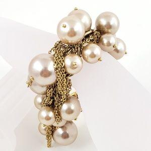 J. Crew Statement Bracelet Champagne Pearls